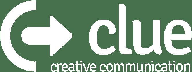 logo clue PR białe