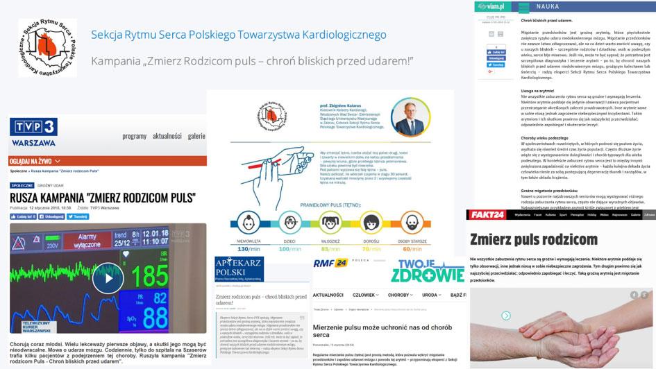 Publikacje w mediach internetowych na temat kampanii społecznej nagłośnionej przez agencję pr