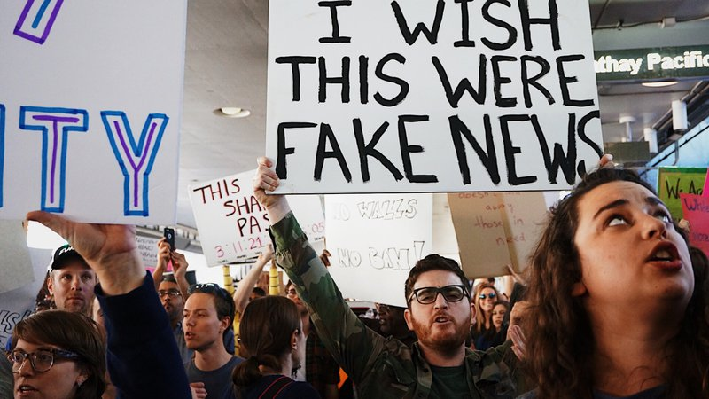 This photo was taken at the LAX protest against Trump's muslim ban.